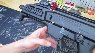 hb industries cz scorpion evo duckbill mag release upgrade