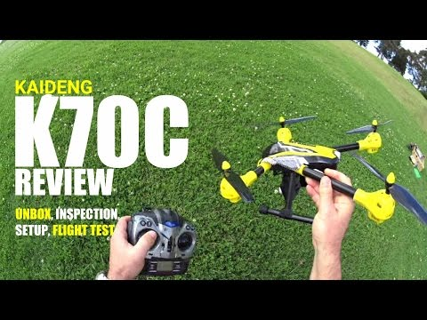 KAIDENG K70C Review - HD Remote Tilt Camera Drone - [UnBox, Inspection, Setup, Flight Test]