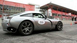 TVR Sagaris - Rev & Dragrace accelerations!