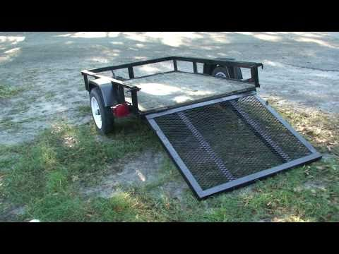 4X6 LANDSCAPE ATV TRAILER I BOUGHT ON CRAIGSLIST 250.00