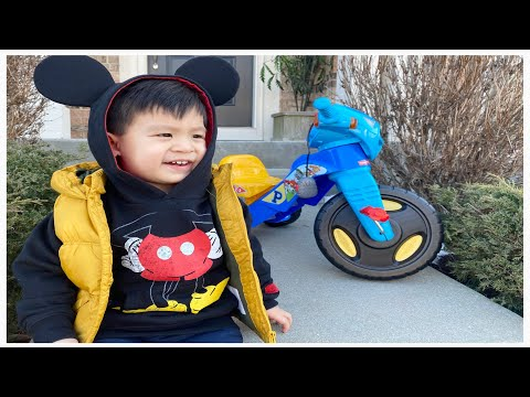DANCING 2 YEAR OLD & PAW PATROL TRIKE!!