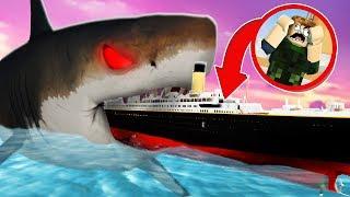 MEGALODON VS TITANIC BITE DE ROBLOX SHARK