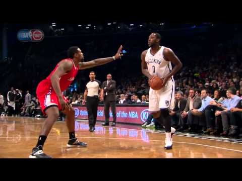 Andray Blatche impersonates MJ in the Air Jordan Taxi 12's - 2013.12.12