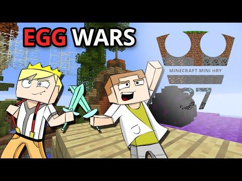 Jirka a GEJMR Hraje - Minecraft Mini hry 37 - EGG WARS