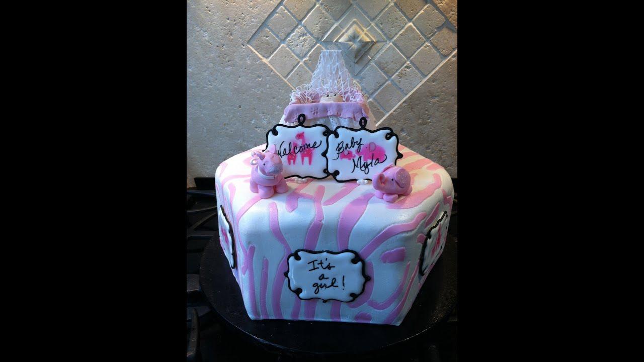 Animal Safari Baby Shower Cake