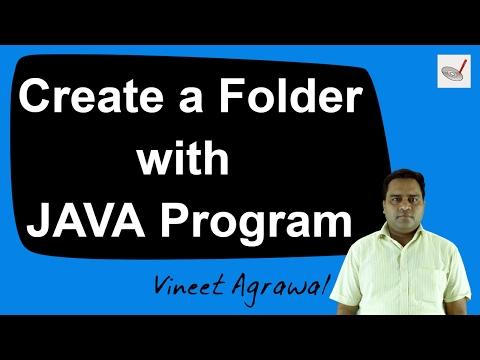 Creating a Folder using JAVA program by Vineet Agrawal | Hindi / Urdu