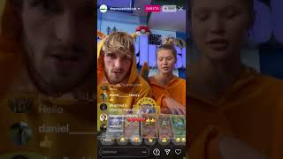 Logan Paul & Joṡie get some incredible pokemon cards live on instagram (charizards,gladiados...)