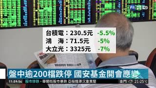 台股摜破萬點大關 盤中慘跌近650點  華視新聞 20181011
