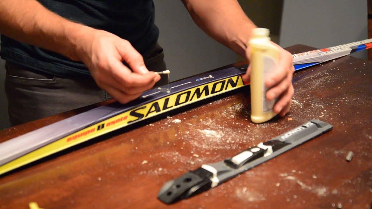 How To Mount Cross Country Ski Bindings Skate Skis