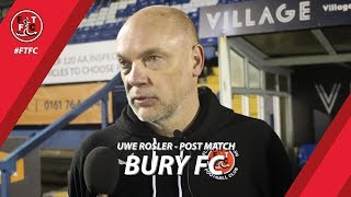 Uwe Rosler after Bury win | Post Match