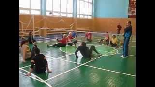 Тренировка паралимпийской сборной Украины по волейболу сидя