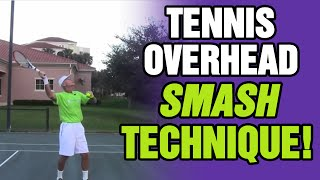 Tennis Serve - Generate Power With Your Overhead Smash
