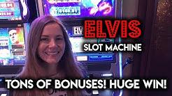 BIG WIN! EPIC Run! on Elvis Shake Rattle and Roll Slot Machine! So Many BONUSES