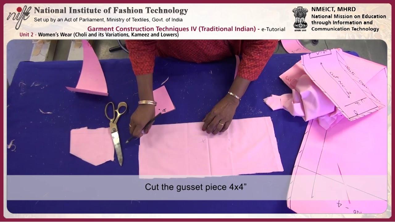 Garment construction techniques-IV: women's wear(choli and ...