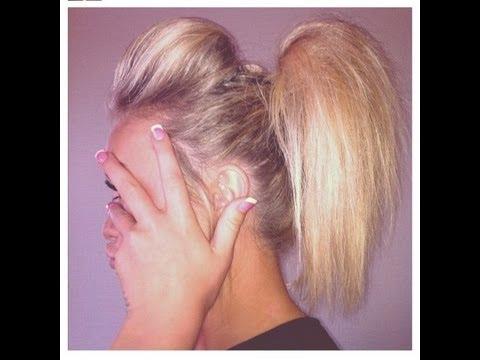 cheerleading hair tutorial