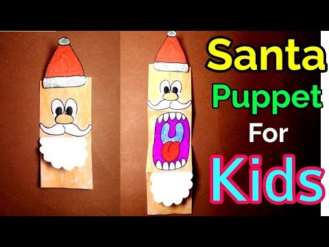 Santa Claus Puppet for Kids || Christmas Craft for kids || Santa Gift Ideas