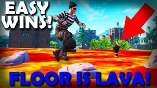 How To Get Easy Wins In FLOOR IS LAVA Game Mode! (Fortnite) | VonHooli
