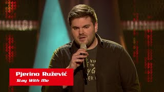 "Pjerino Ružević: ""Stay With Me"" - The Voice of Croatia - Season1 - Blind Auditions3"