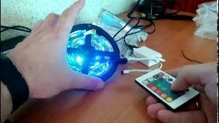 Led RGB Strip with IR Remote + 2A Power Adapter, Aliexpress