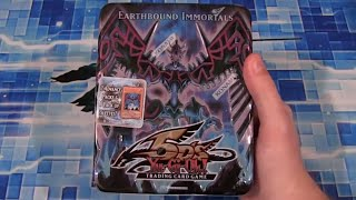 Yugioh Earthbound Immortal Wiraqocha Rasca 2009 Collectors Tin Opening