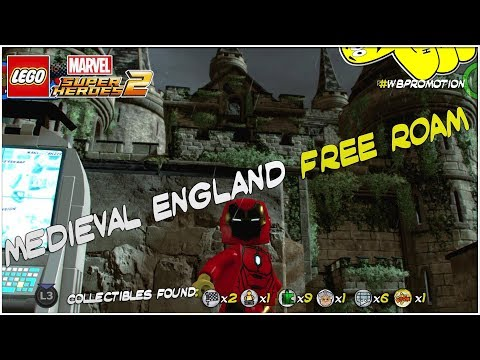 Lego Marvel Superheroes 2: Medieval England FREE ROAM (All Collectibles) - HTG