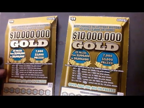 MATCH! $10,000,000 GOLD ED & RONNIE - MA SCRATCH OFF TICKETS