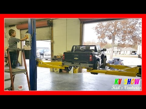 Kruz (Little Mechanic) Fixing His Power Wheel Chevy Silverado Using His First Craftsman Tool Set!