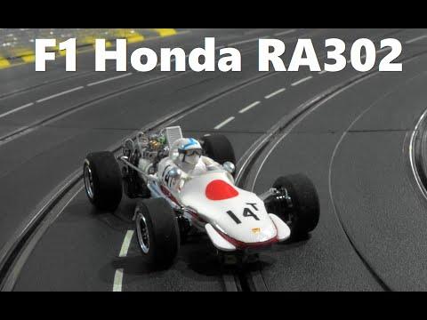 Slot Car  Honda F1 RA302 No14T 1968 in Carrera Slot Car Race Track   スロットカー  ホンダF1 RA302 (1/24Scale)