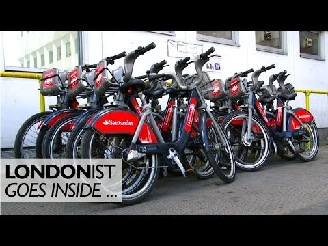 Inside The Cycle Hire Depot