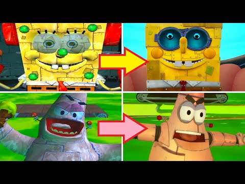 SpongeBob Battle for Bikini Bottom Rehydrated – All Bosses Comparison – PS4 vs PS2