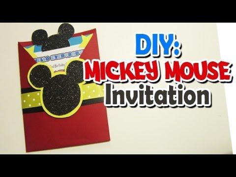 diy mickey invitation youtube