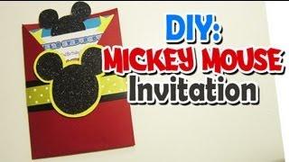 DIY: Mickey invitation