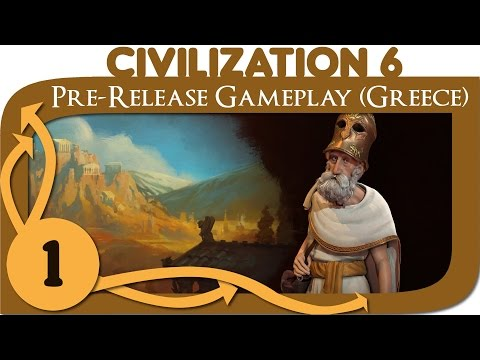 Civilization 6 - Let's Play Greece (Pericles) - Ep. 1 [Civ 6 Gameplay]