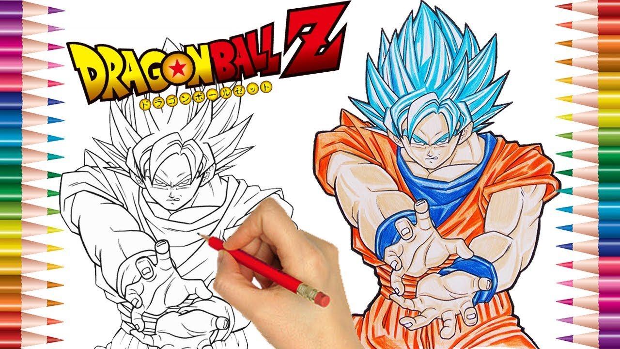Desenhos Para Colorir Colorir Goku: Goku Super Sayajim Azul