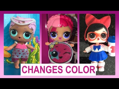 💦Which LOL SURPRISE Dolls Color Change? | Series 1, 2, and Glitter Series 💙