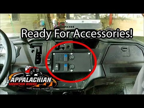Honda Pioneer 700 >> Honda Pioneer 1000 Switch Plate Install (P1K only) - YouTube
