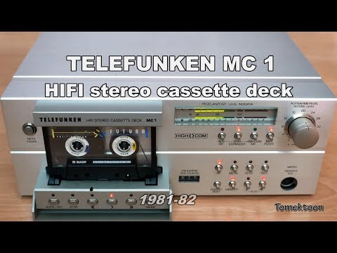 Telefunken MC1 HiFi Cassette Deck teardown/inside (1981-82)