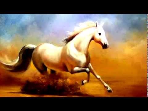 Tranh ngựa, Tranh sơn dầu vẽ ngựa