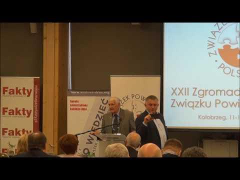 Józef Zych podczas XXII Zgromadzenia Ogólnego Związku Powiatów Polskich, 11 maja 2017r., Kołobrzeg