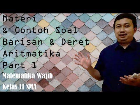 Materi Dan Contoh Soal Barisan Dan Deret Aritmatika Part 1 Youtube