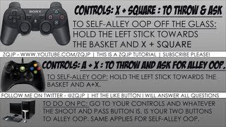 NBA 2K13 Tutorial w/ Pics: How to throw/call for/and self-alley oop off the glass [PS3/XBOX 360/PC]