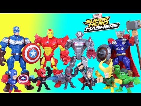 The BEST Of Super Hero Mashers Ultron Avengers Micro Mashers Episodes - 동영상