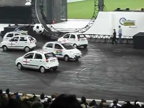 top gear festival durban car soccer moses mabhida 2012