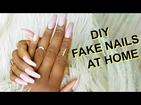 NAIL SALONs CANCELLED : HOW TO DO FAKE NAILS AT HOME  EASY MANICURE FOR BEGINNERS  OMABELLETV