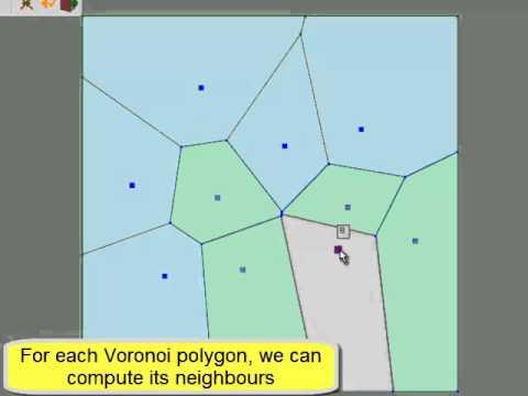 Voronoi algorithm Green Sibson