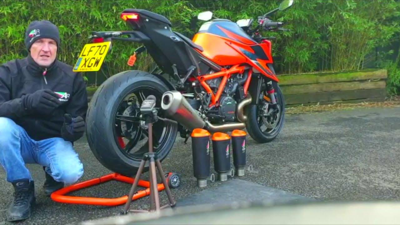 Austin Racing EU road legal slip-on db test - 2020 KTM 1290 Superduke R