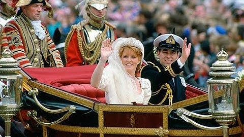 The Royal Wedding of Prince Andrew and Sarah Ferguson 1986