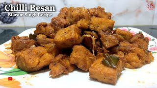 Chilli Besan Recipe | How To Make Chilli Besan In Hindi | Chilli Besan Odia | Besan Curry