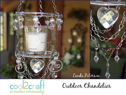 How to make an outdoor candle chandelier by linda peterson youtube how to make an outdoor candle chandelier by linda peterson aloadofball Images