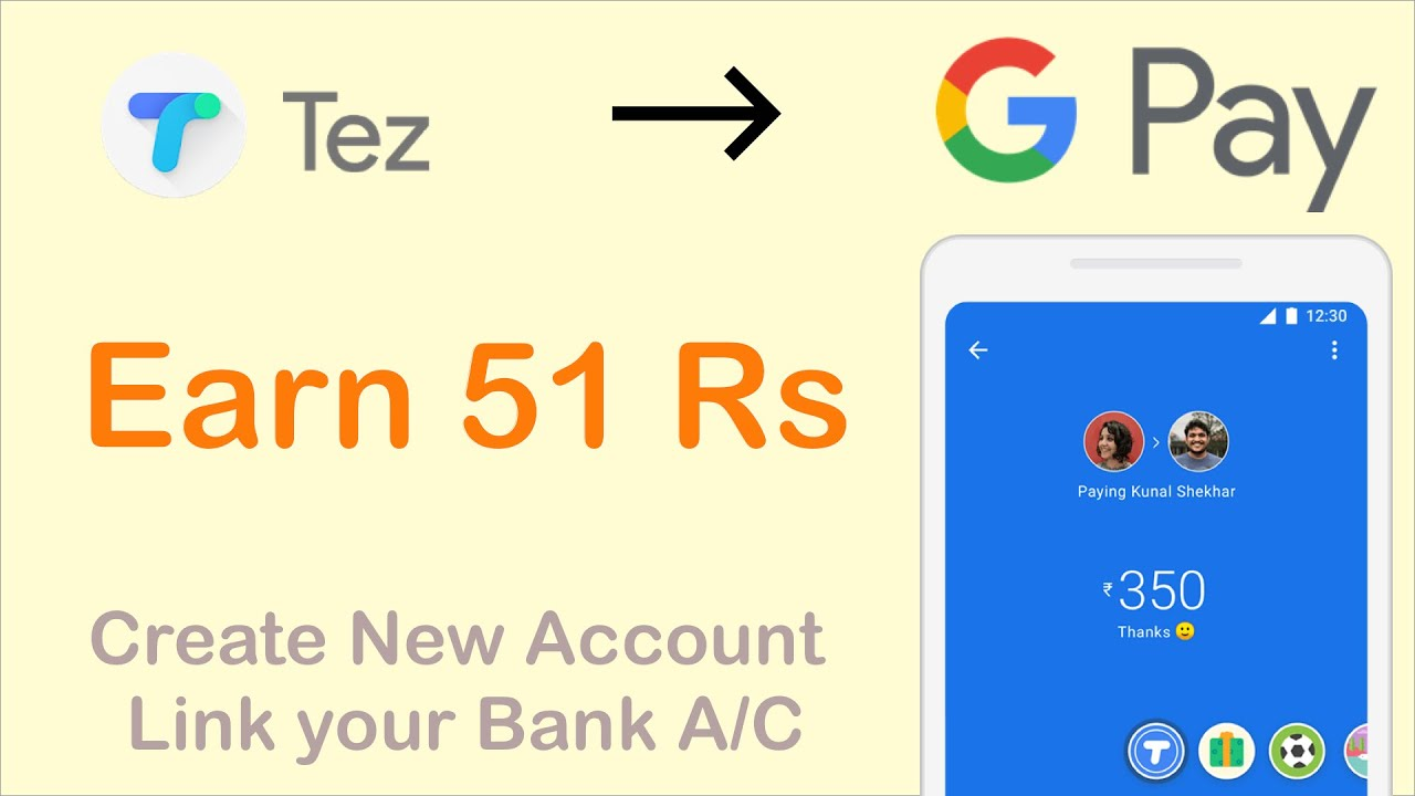 Google Pay or Google Tez | Create New Account In Google Pay | Link your  Bank Account in Google Pay